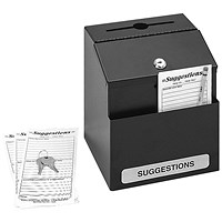 Safco Locking Suggestion Box Black