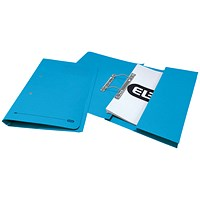 Elba Stratford Pocket Transfer Files, 320gsm, Foolscap, Blue, Pack of 25