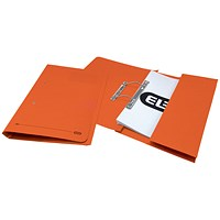 Elba Pocket Transfer Files, 320gsm, Foolscap, Orange, Pack of 25