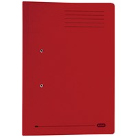 Elba Stratford Pocket Transfer Files, 320gsm, Foolscap, Bordeaux, Pack of 25