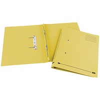Elba Spirosort Transfer Files, 285gsm, Foolscap, Yellow, Pack of 25