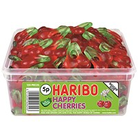 Haribo Giant Happy Cherries Sweets Tub