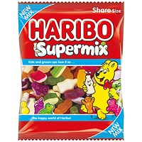 Haribo Supermix Share Size Bag 140g (Pack of 12)