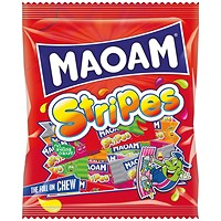 Maoam Stripes Share Size Bag 140g (Pack of 12)
