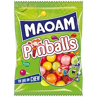 Maoam Pinballs Share Size Bag 140g (Pack of 12)