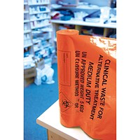 Clinical Waste Sack Medium Duty Orange (Pack of 200)