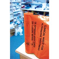 Clinical Waste Sack Heavy Duty Orange (Pack of 100)