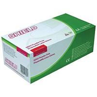 Shield P/F Latex Gloves XS (Pack of 1000)