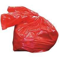 Laundry Soluble Strip Bag 80 Litre Red (Pack of 200)