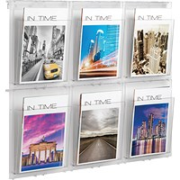 Helit Placativ Wall Display 6 x A4 Pockets Clear