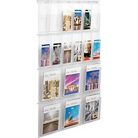 Helit Placativ Wall Display 18 Pockets Clear