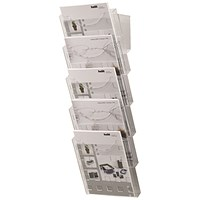 Helit 5 Pocket Literature Display Unit A4 (Dimensions: 214 x 150 x 578mm)