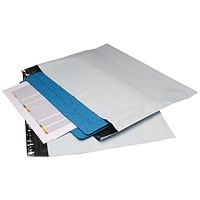 Strong Polythene Mailing Bag, 235x320mm, Peel & Seal, Opaque, Pack of 100