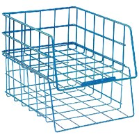 Wire Filing Tray Large Capacity Blue