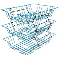 Wire Filing Tray A4 Blue (W280 x D380 x H70mm, Risers Available Seperately)