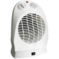 CED 2000W Upright Fan Heater with Oscillation