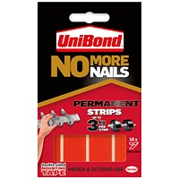 No More Nails Red Permanent Adhesive Strip (Pack of 10)