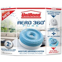 UniBond Aero 360 Moisture Absorber Large Refill (Pack of 2)