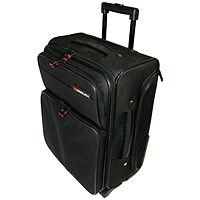 Monolith Wheeled Overnight Laptop Case w/Removable Case Black