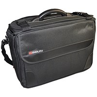 Monolith Polycanvas Pilot Case with Organiser Compartment Black