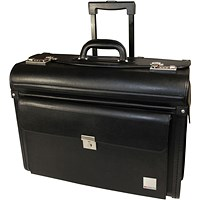 Monolith Leather Look Rolling Pilot Case PVC Black