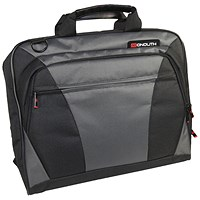 Monolith Nylon Laptop Messenger Bag Black and Grey