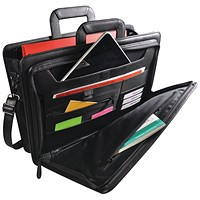 Monolith Front Flap Document Case W440 x D120 x H320mm Black