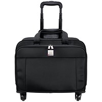 Motion II 4 Wheel Laptop Trolley Case W445 x D230 x H320mm Black