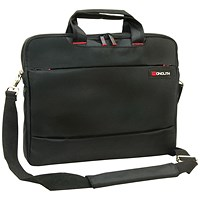 Monolith Slim 15.6 inch Laptop Case with Lockable Zips Black
