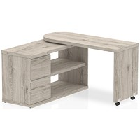 Fleur Smart Storage Desk Grey Oak