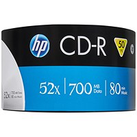 HP CD-R 52X 700MB Wrap (Pack of 50)