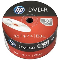 HP DVD-R 16X 4.7GB Wrap (Pack of 50)