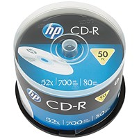 HP CD-R 52X 700MB Spindle (Pack of 50)