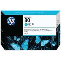 HP 80 High Yield Cyan Inkjet Print Cartridge C4846A