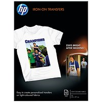 HP Iron-On A4 Transfer (Pack of 12) 170gsm