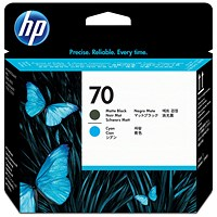 HP 70 Matte Black & Cyan Printhead C9404A