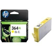 HP 364XL Yellow High Yield Ink Cartridge CB325EE