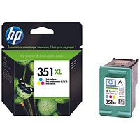 HP 351XL Colour High Yield Ink Cartridge CB338EE