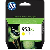 HP 953XL Yellow High Yield Ink Cartridge F6U18AE
