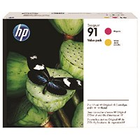 HP 91 Magenta and Yellow Ink Cartridges and Printhead P2V36A