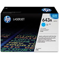 HP 643A Cyan Laser Toner Cartridge