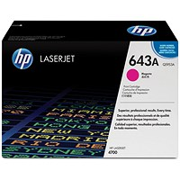 HP 643A Magenta Laser Toner Cartridge