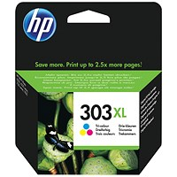 HP 303XL Colour High Yield Ink Cartridge T6N03AE