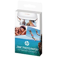 HP ZINK Sticky Backed Photo Paper (Pack of 20) W4Z13A