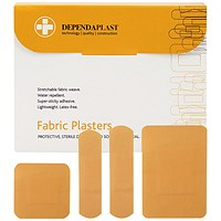 Reliance Medical Dependaplast Fabric Plasters (Pack of 100)