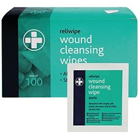 Reliance Medical Reliwipe Wound Cleansing Wipes (Pack of 100)