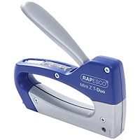 Rapesco Mini Z T-Duo Staple Tacker Blue/Silver 0954