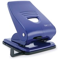 Rapesco 835 Hole Punch w/Paper Guide Capacity 40 Sheets Blue