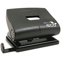 Rapesco Eco 2-Hole Punch with Recycled ABS Casing, Black, Punch capacity: 22 Sheets