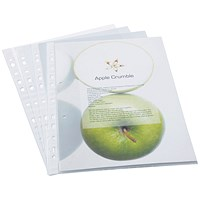 Rapesco A4 Eco Punched Pockets - Pack of 100